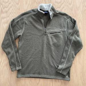 RAIL RIDERS Fleece 1/4 Zip Pullover Sweatshirt L